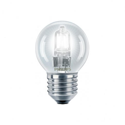Bec halogen E27 Philips EcoClassic30 mini P45 230V 18W lumina calda