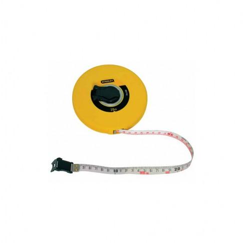 Ruleta cu banda din fibra de sticla, Stanley 0-34-297, 30 m