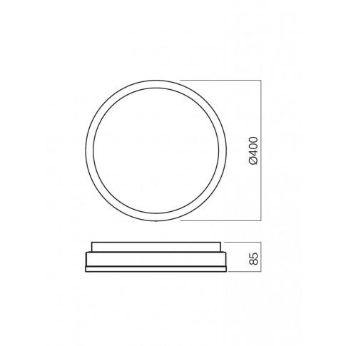 Plafoniera pentru baie Moon 01-542, 3 x E27, D 400 mm, IP44