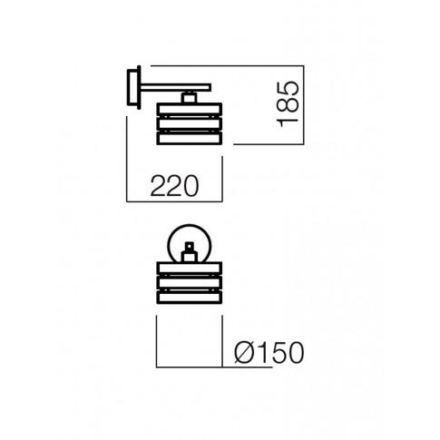 Aplica Kim 01-474, 1 x E14, crom + wenge