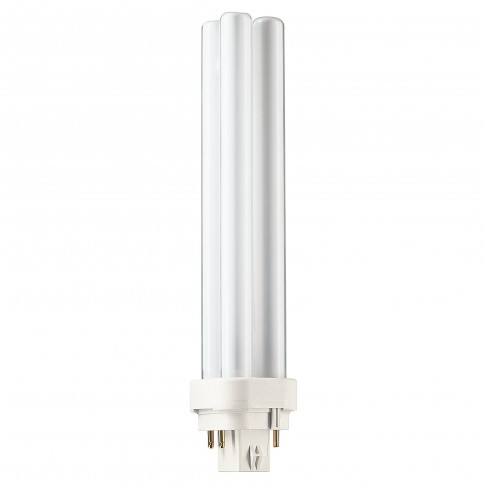 Bec economic Philips Master PL-C 4P tubular G24q-3 26W 1800lm lumina neutra 4000 K, compatibil cu droser dimabil