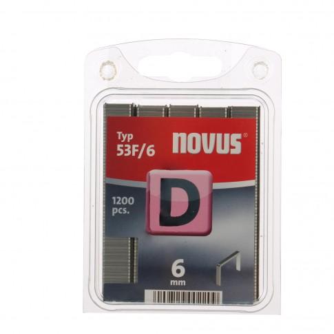 Cleme plate, Novus D 53 F, 6 mm, set 1200 bucati