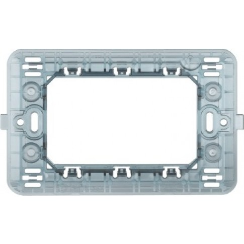 Suport Bticino Matix S503SAE, 3 module sau 1 modul centrat, pentru rama priza / intrerupator