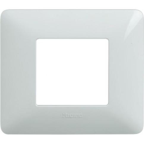 Rama Bticino Matix SAM4802BBNE, 2 module, alba, pentru priza / intrerupator