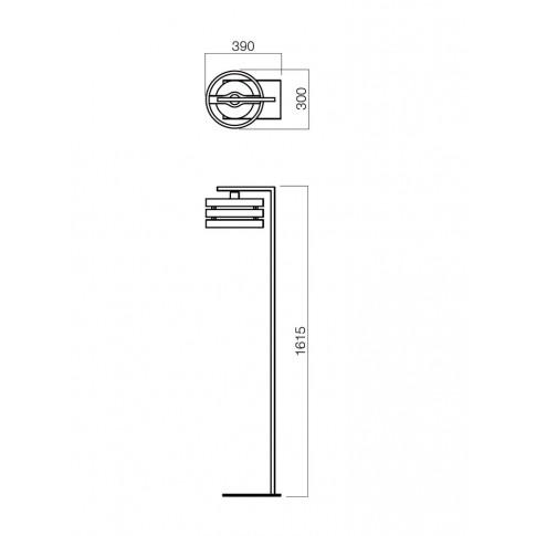 Lampadar Kim 01-481, 1 x E27, 1615 mm