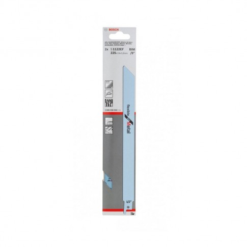 Panza fierastrau sabie, pentru metal, Bosch Flexible for Metal, S 1122 EF, 2609256708, set 2 bucati