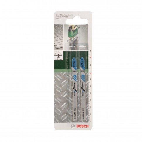 Panza fierastrau vertical, pentru metal, Bosch Flexible for Metal, T 118 AF, 2609256733, set 2 bucati