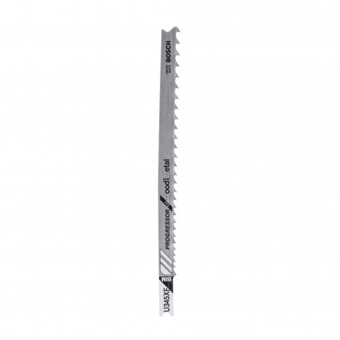 Panza fierastrau vertical, pentru lemn / metal, Bosch Progressor for Wodd and Metal, U 345 XF, 2609256772, set 2 bucati