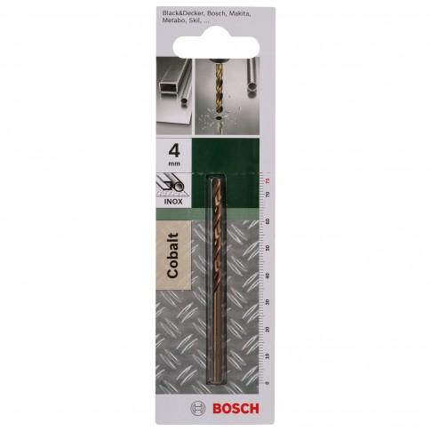 Burghiu pentru metal, tip HSS-CO, Bosch 2609255068, 4 x 43 x 75 mm