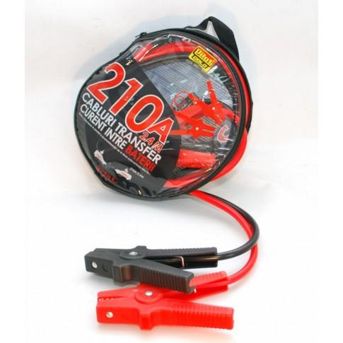 Cablu curent auto, 210 Ah, 2.4 m, set 2 bucati