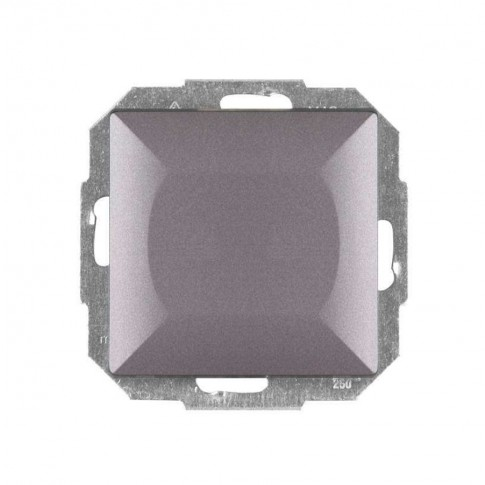 Intrerupator simplu iluminat Abex Perla WP-1P/S AN, incastrat, antracit