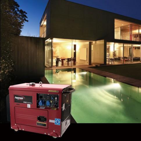 Generator de curent, Pramac PMD 5000S, monofazic, cu AVR, 5 kw, 9 CP