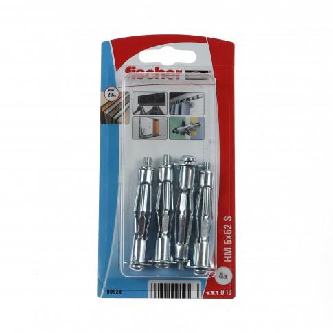 Diblu metalic, pentru cavitati, cu surub, HM 5 X 52 mm, 4 bucati