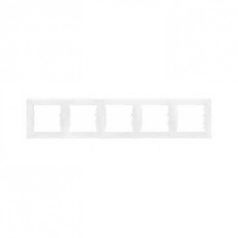 Rama orizontala Schneider Electric Sedna SDN5800921, 5 posturi, alb