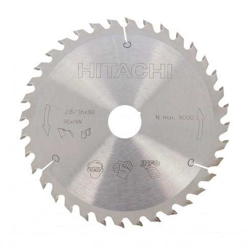 Disc circular, pentru lemn, Hitachi 752417, 165 x 30 mm