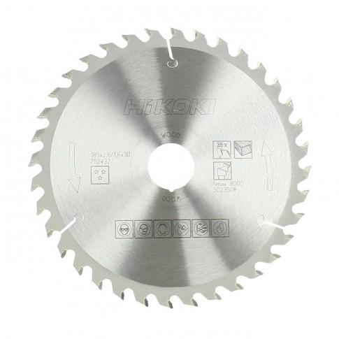 Disc circular, pentru lemn, Hikoki 752432, 185 x 30 x 1.6 mm