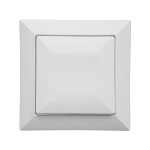 Intrerupator cu revenire Abex Perla WP-6P, incastrat, alb