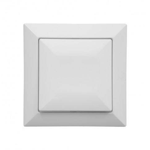 Intrerupator simplu cu indicator luminos Abex Perla WP-1P/S, incastrat, alb