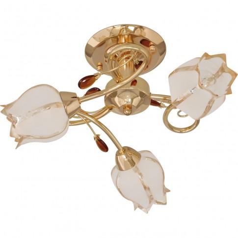Plafoniera tip lustra Togo KL 7067, 3 x E14, auriu + alb