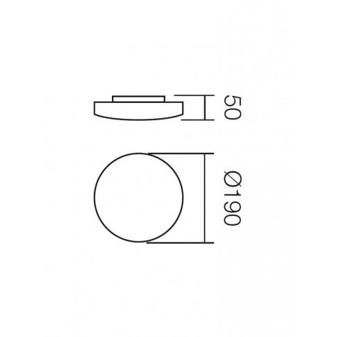 Plafoniera Rondo 05-572, 1 x G9, 33W, alba