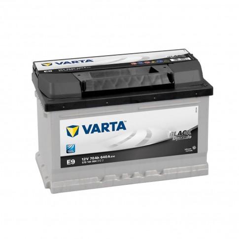 Baterie auto Varta Black Dynamic E9 12 V, 70Ah, 640 A, 27.8 x 17.5 x 17.,5 cm