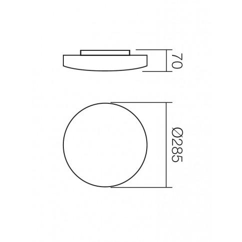 Plafoniera Rondo 05-573, 1 x E27, alba