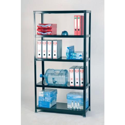 Raft metalic depozitare Premium 100/40 200 x 100 x 40 cm negru 100 kg/polita