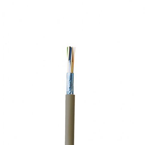 Cablu instalatii telefonice J-Y(ST)Y-Lg 2 x 2 x 0.8 mmp, gri, cupru