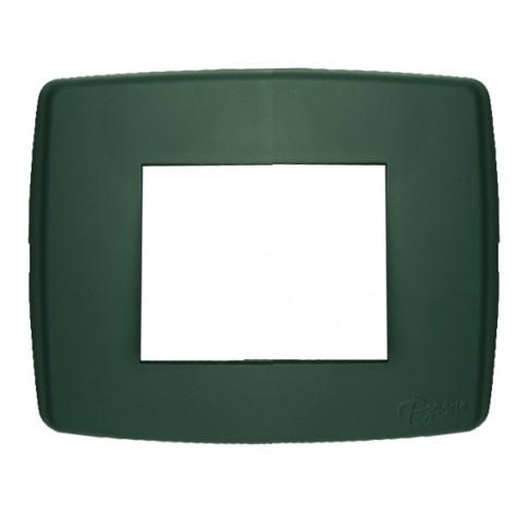 Rama Esperia 300555-31, 3 module, verde, pentru priza / intrerupator