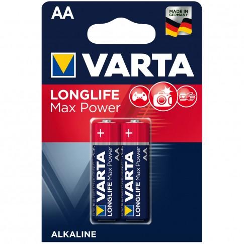 Baterie Varta Longlife Max Power 4706, AA / LR6, alcalina, 2 buc