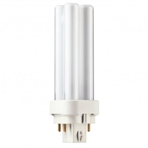 Bec economic Philips Master PL-C 4P tubular G24Q-1 10W 600lm lumina neutra 4000 K, compatibil cu droser dimabil
