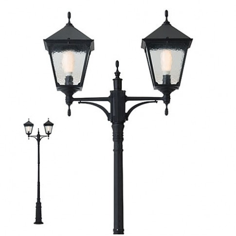 Stalp de iluminat ornamental Heidelberg 9224, 2 x E27, H 331 cm