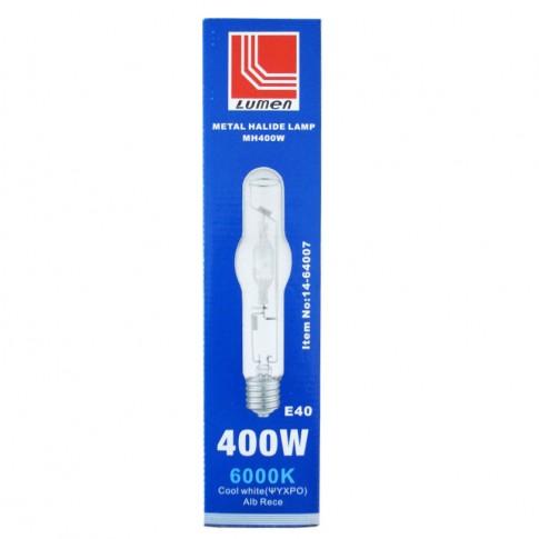 Bec cu halogenura metalica Lumen HQI 00-7147 E40 400W 28000lm lumina rece