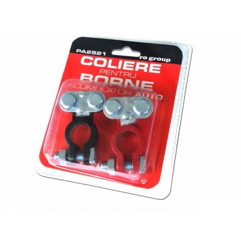 Colier pentru borne acumulator Ro Group, set 2 bucati
