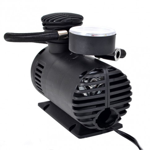 Compresor auto cu manometru, 18 bari, 12 V, 13 x 12 x 8 cm