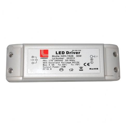 Transformator pentru banda LED Adeleq Lumen 05-030/30, 240V / 12V, 30W
