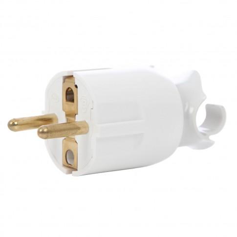 Fisa orientare cablu 050172, contact de protectie, 16A, alba