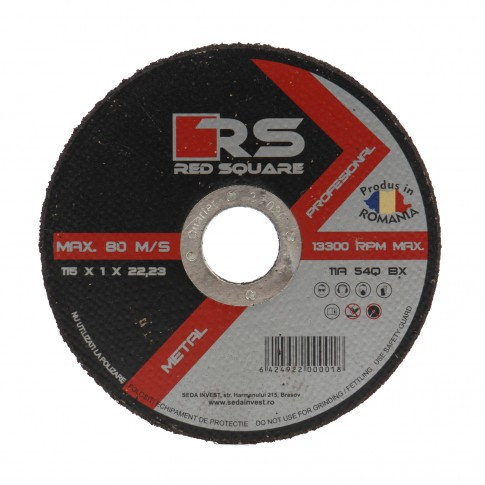 Disc debitare metal, Red Square, 115 x 22.2 x 1 mm
