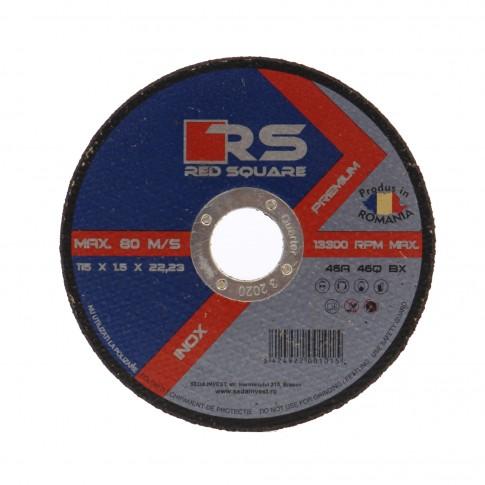 Disc debitare inox, Red Square, 115 x 22.2 x 1.5 mm