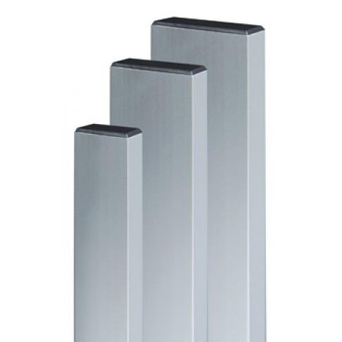 Dreptar aluminiu, pentru constructii, 20 x 80 x 1.2 mm, 2 m