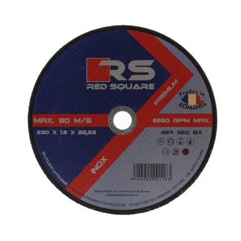 Disc debitare inox, Red Sqare, 230 x 22.2 x 1.9 mm
