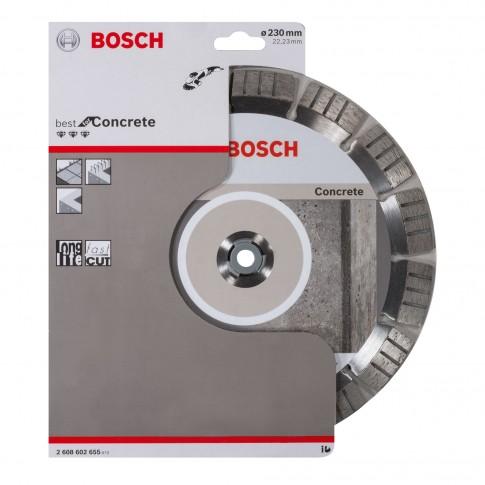 Disc diamantat, cu segmente, pentru debitare beton, Bosch Best for Concrete,   230 x 22.23 x 2.4 x 15 mm, 2608602655