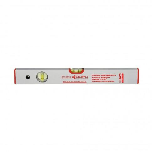 Nivela cu bula, magnetica, Dupu 452600, cu 2 indicatori, din aluminiu, 600 mm