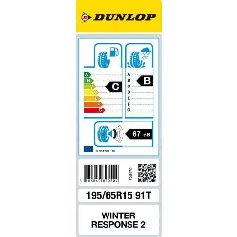 Anvelopa iarna Dunlop Winter Response 2 MS, 195/65 R15 91T