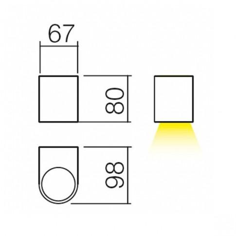 Aplica exterior Scan 9358, 1 x GU10