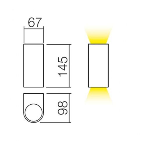 Aplica exterior Scan 9359, 2 x GU10