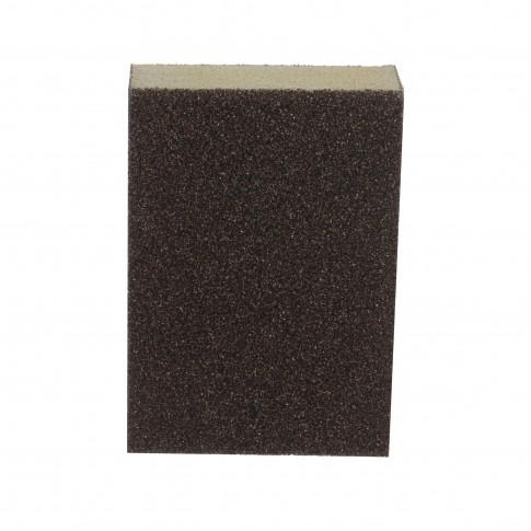 Burete abraziv cu 4 fete, pentru slefuire lemn / zidarie, Carbochim B4F, 100 x 70 x 25 mm, granulatie 80