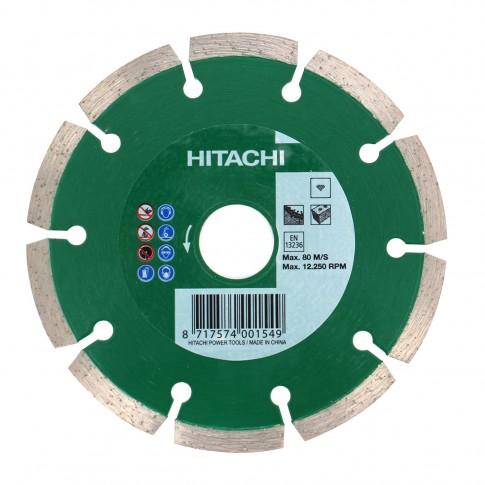 Disc diamantat, cu segmente, pentru debitare materiale de constructii, Hikoki 752812, 125 x 22.2 x 2.1 x 10 mm