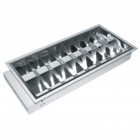 Corp iluminat balast electrostart, 2 x 18W, incastrat, IP20