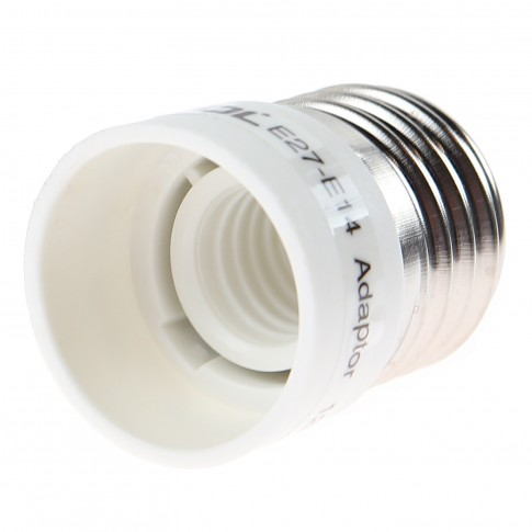 Adaptor dulie E27 - E14 plastic ABS Lohuis